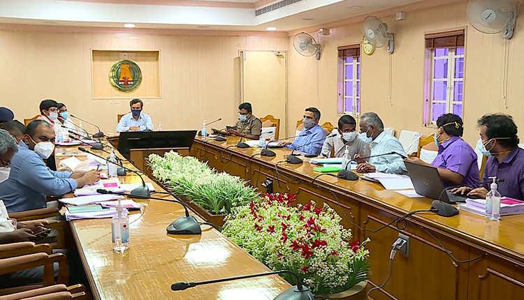 கொரோனா பாதிப்பு அதிகமுள்ள 6 மாவட்ட ஆட்சியர்களுடன் தலைமை செயலாளர் ஆலோசனை..! முழு ஊரடங்கு அமலாகுமா..?